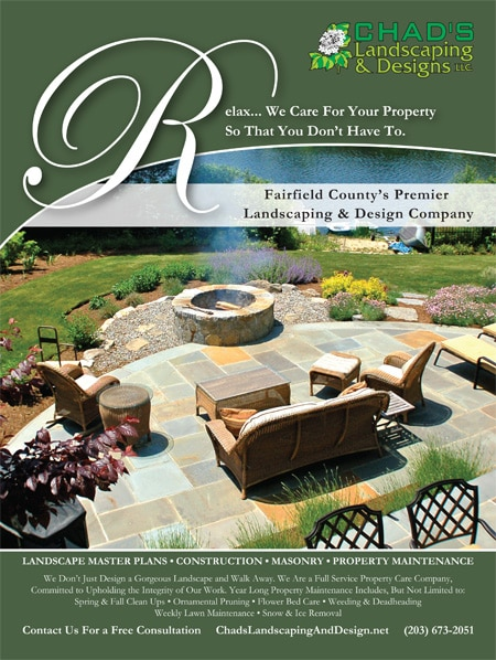 Chad's Landscaping - Fairfield Magazine Ad